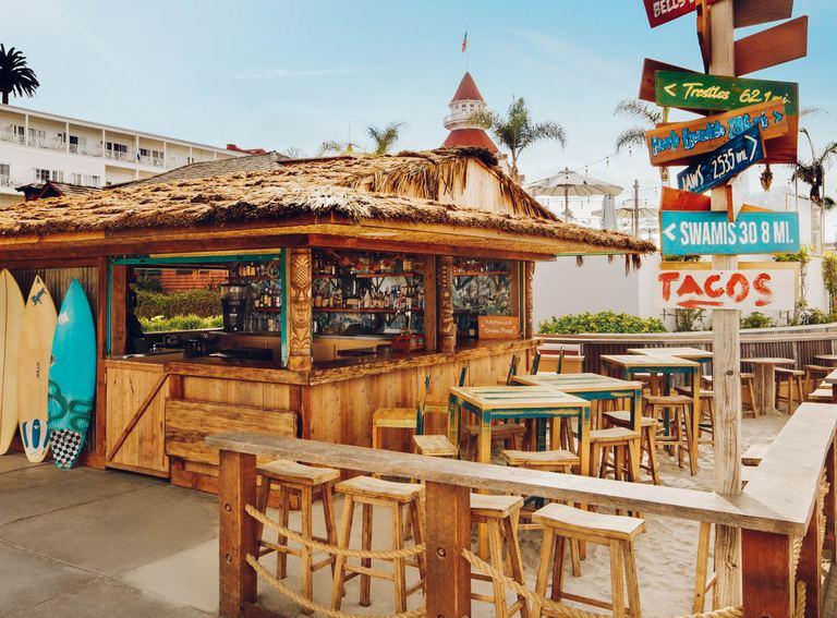 Enjoy bites at the beach and taco shack.