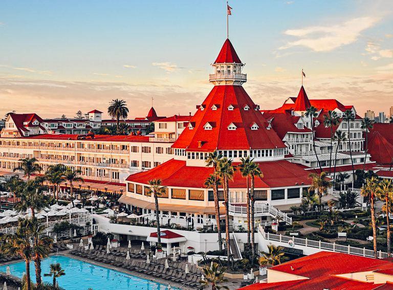 Take a dip in the pool at hotel del coronado.