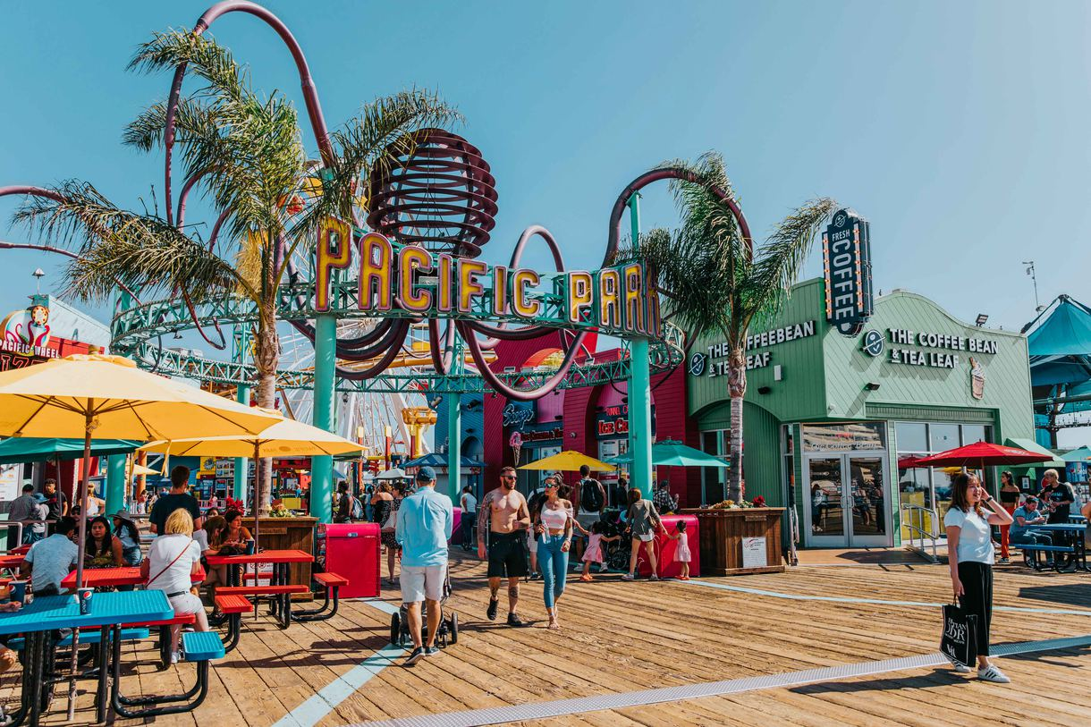 Situated on the Santa Monica Pier, Pacific Park offers thrilling rides, indulgent food, and stunning coastal views.