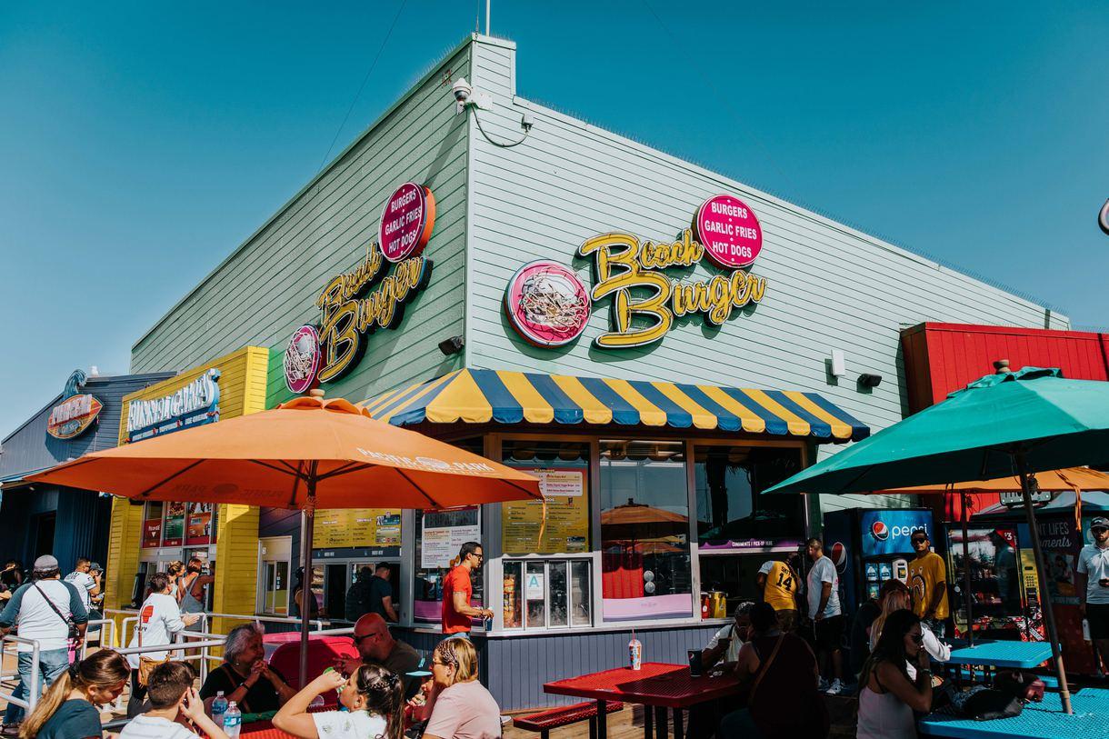 Beach Burger dishes up juicy hamburgers, hot dogs, crispy fries, and creamy milkshakes.