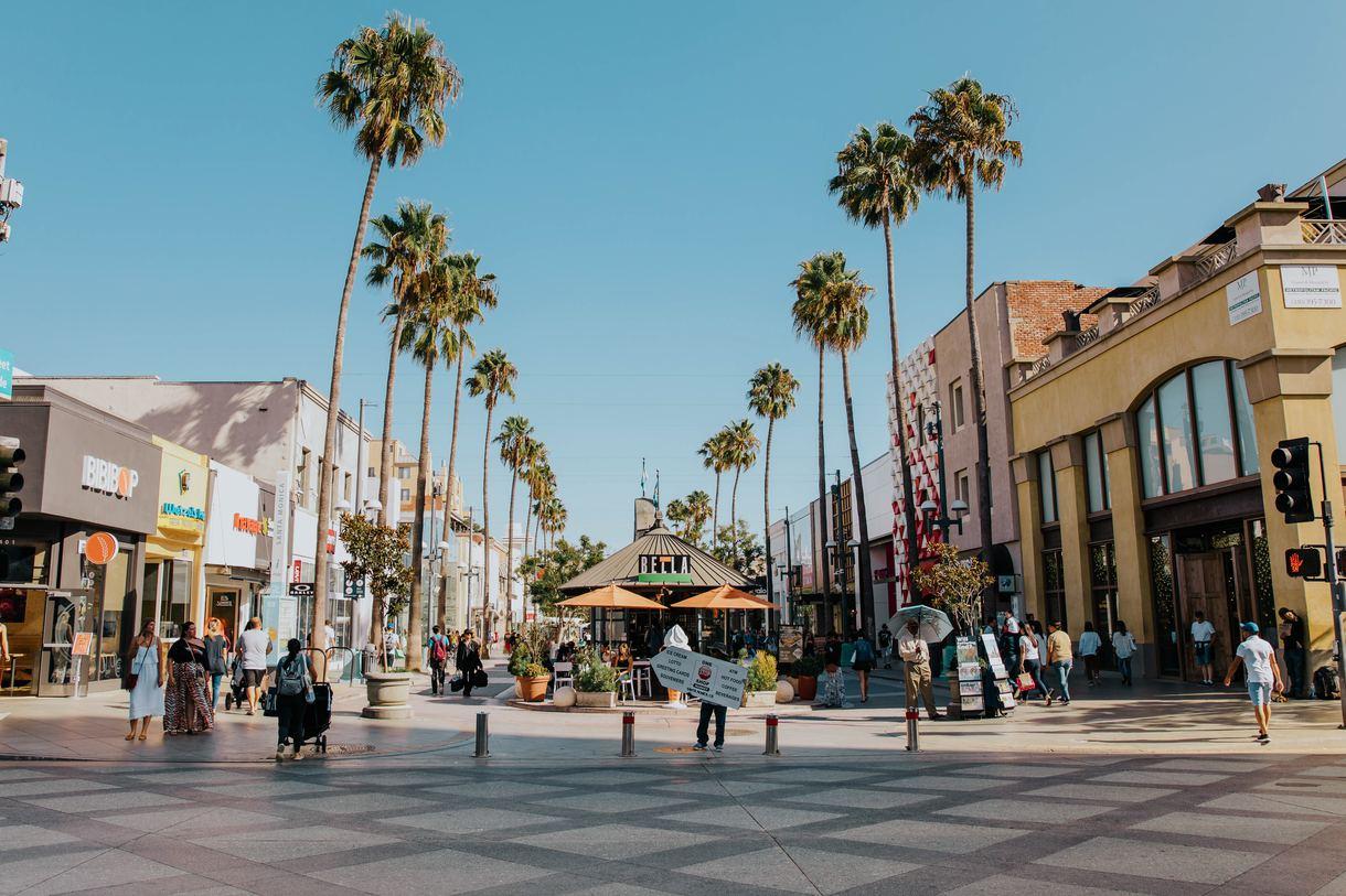 The Third Street Promenade is a popular alfresco shopping center in the heart of downtown Santa Monica.