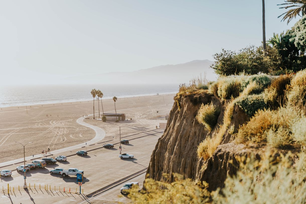 Santa Monica Beach boasts 3.5 miles of soft, pristine shores.