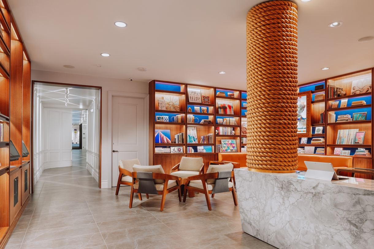 Settle in with a good book from the hotel's Hallidie Library.