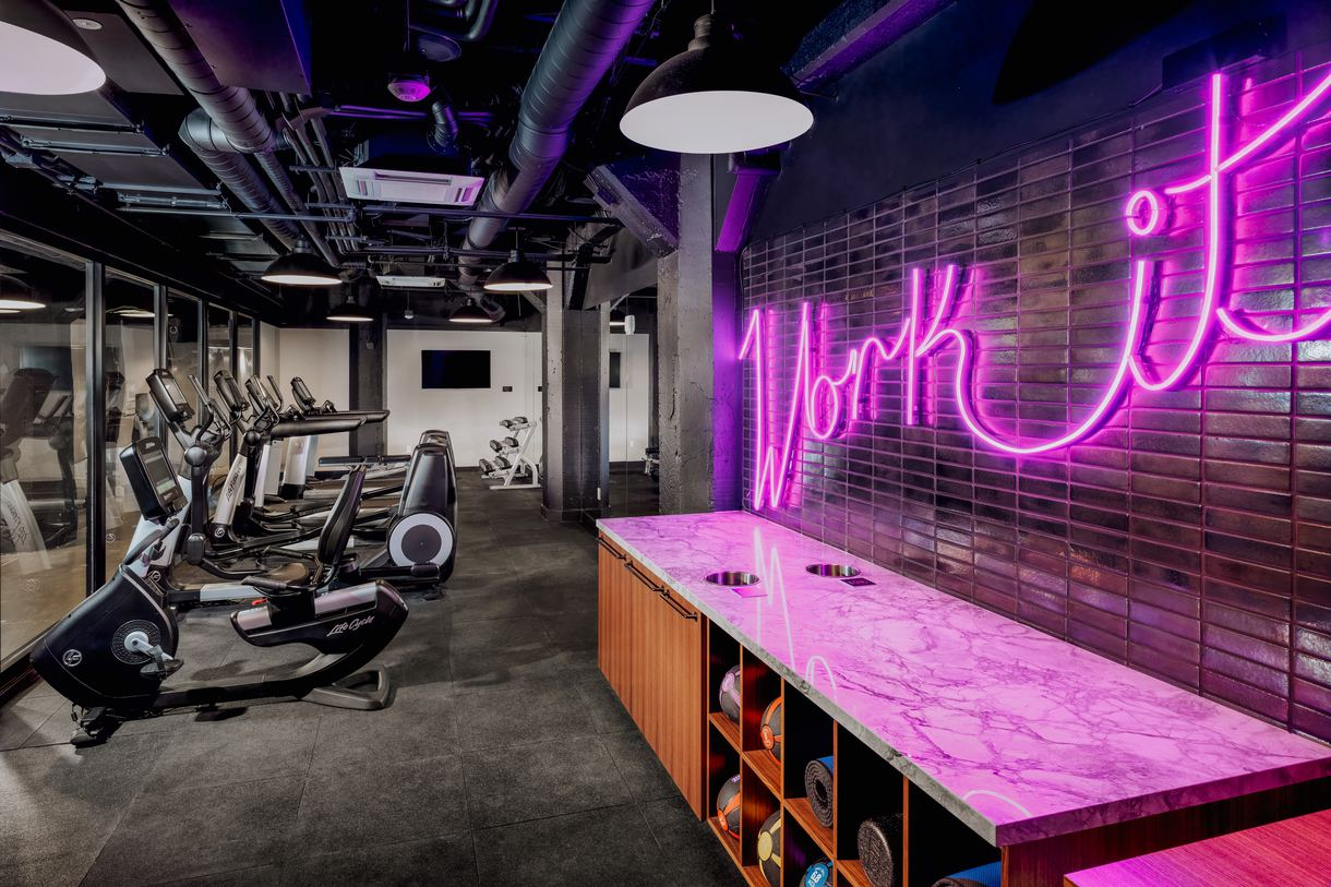 Get a workout in at the sleek fitness center.