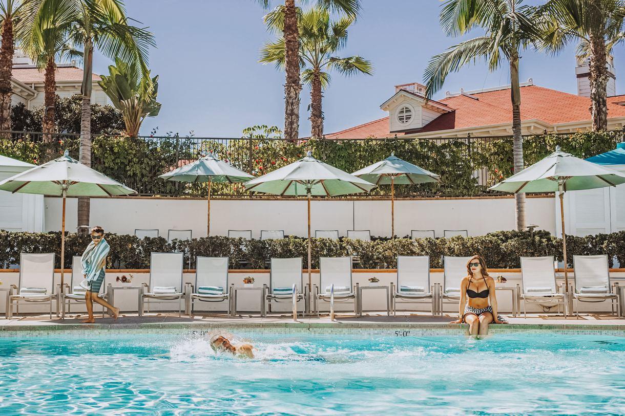 The Beach Village pool.