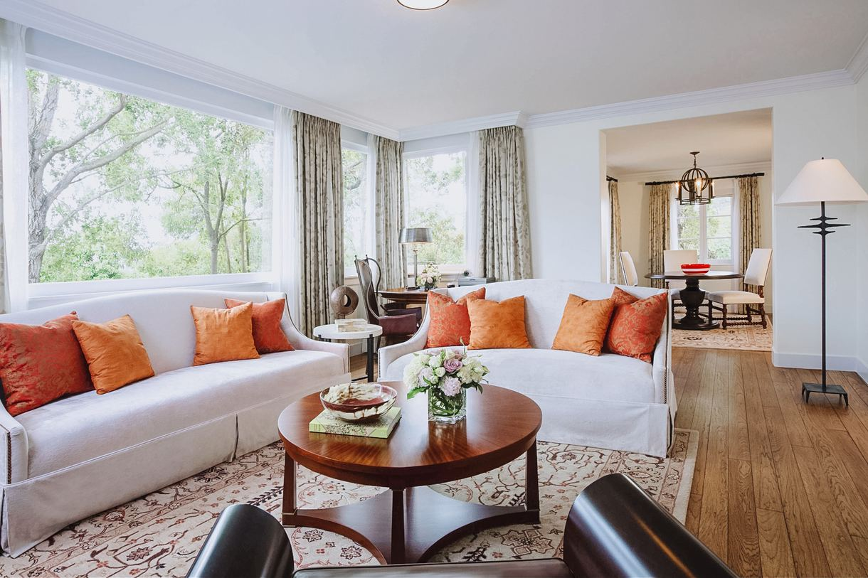 Relax in a sumptuous, spacious suite.