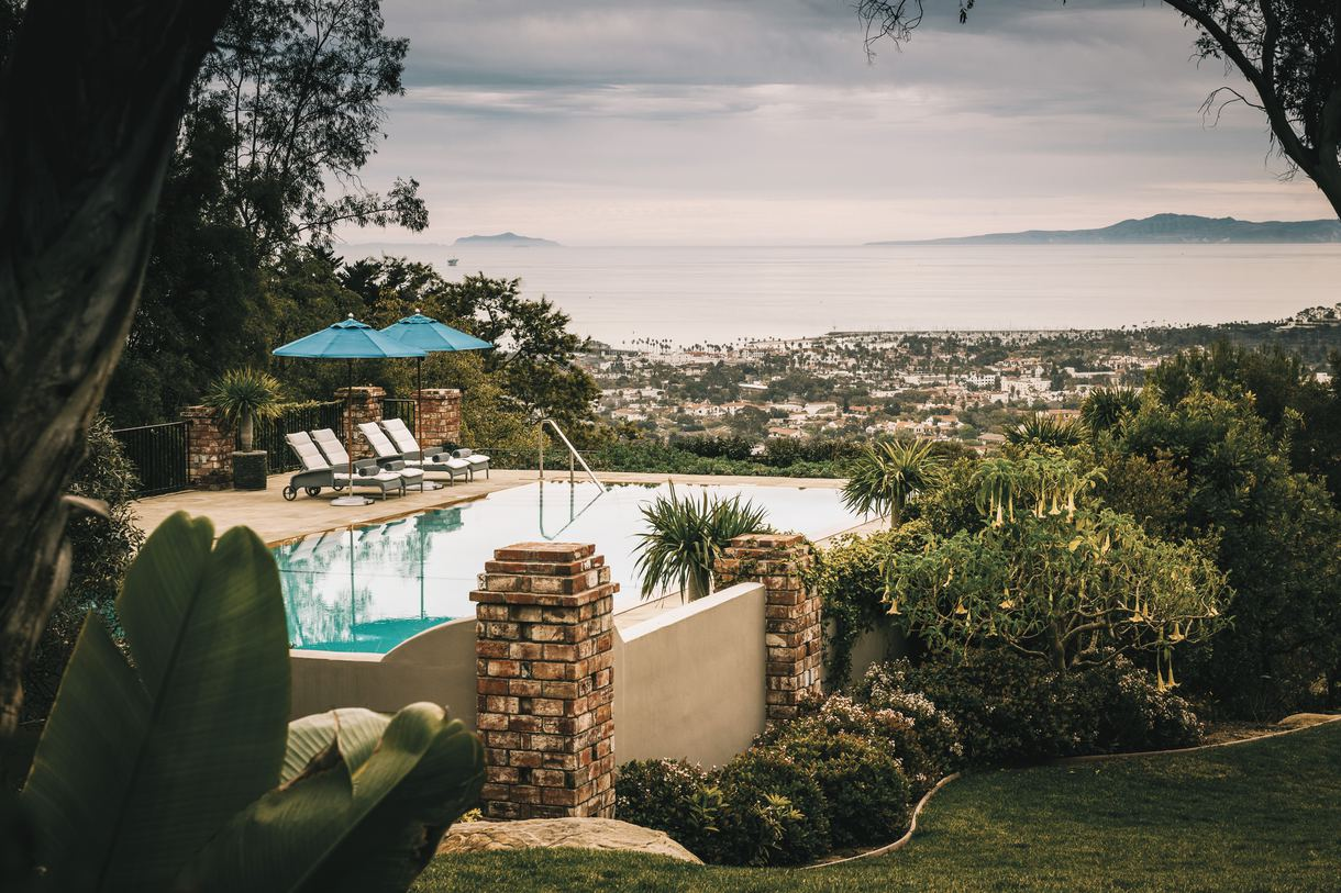 Unwind by the lavish zero-edge swimming pool.