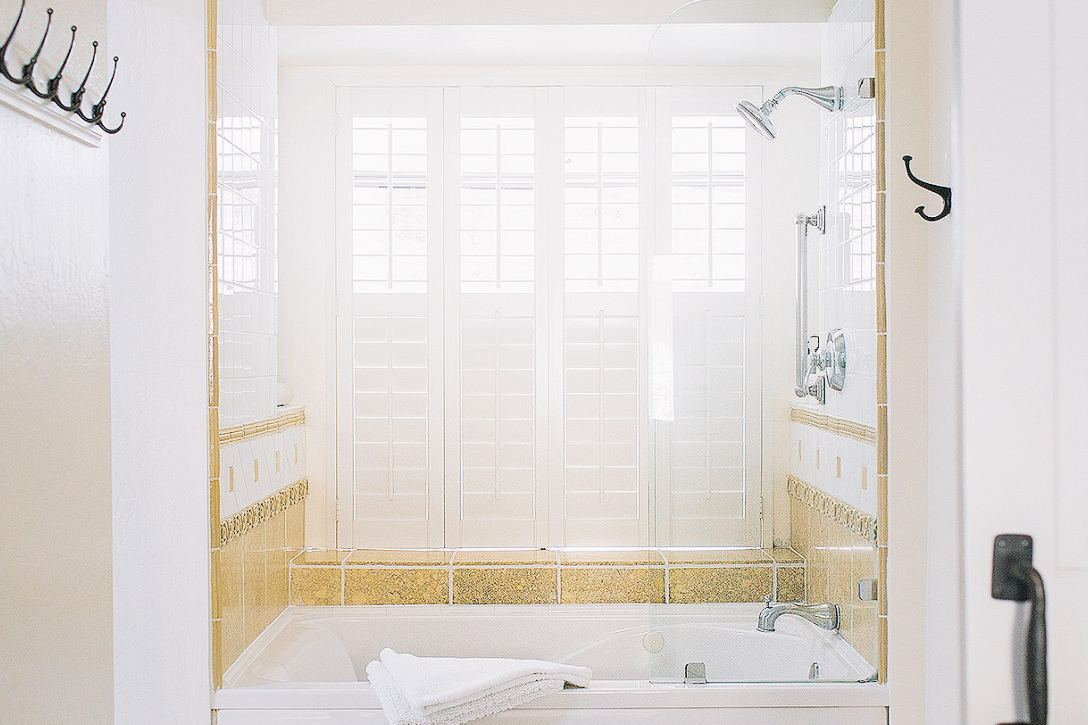 The bathrooms beckon with their immaculate, calming interiors.