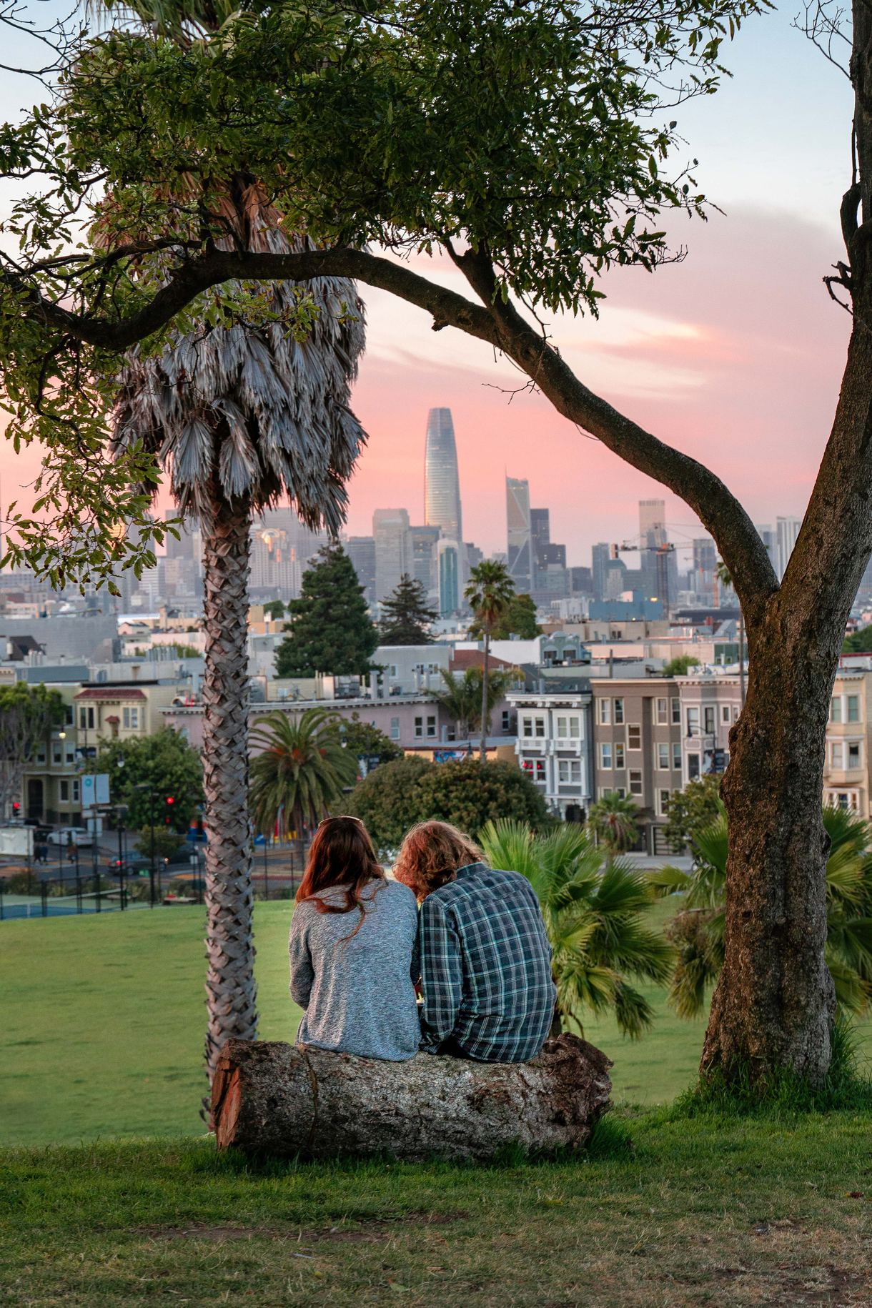 Mission Dolores Park, Dolores and 19th Streets, San Francisco.