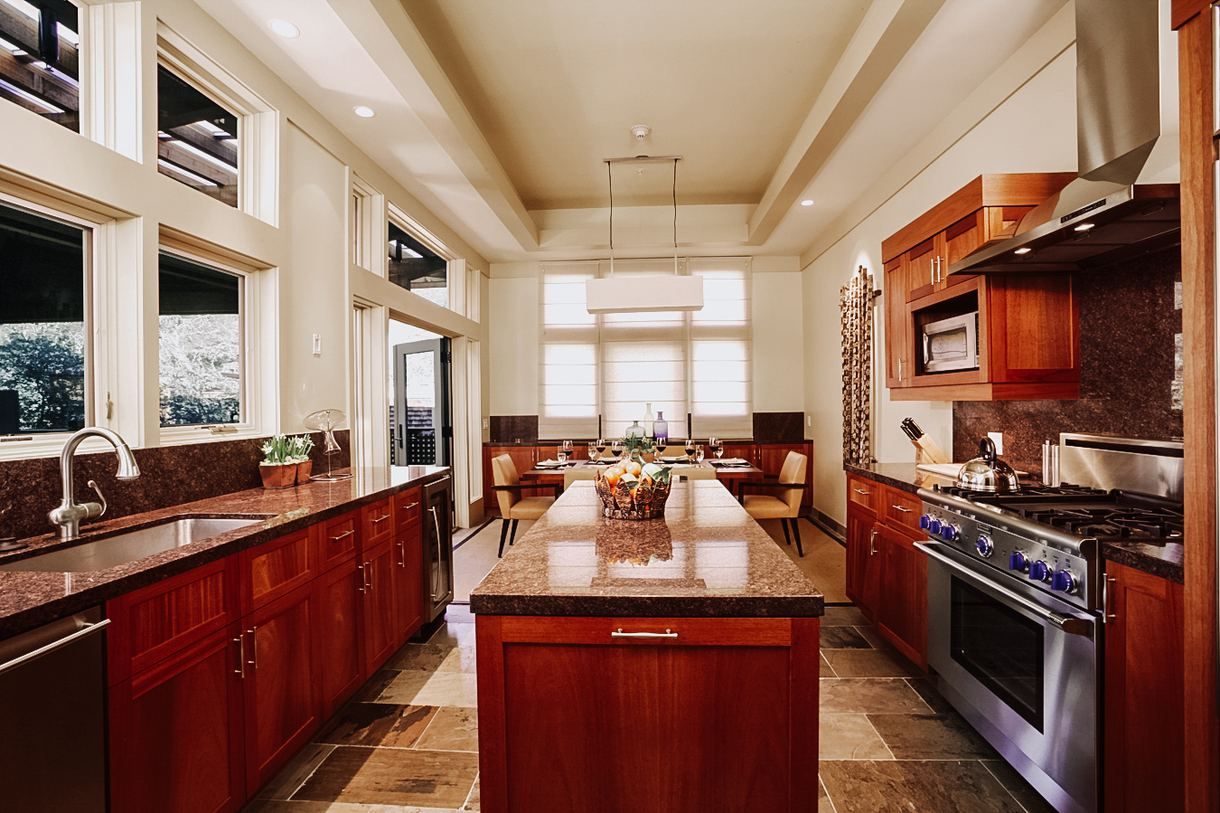 All two-bedroom lodges boast a full gourmet kitchen.
