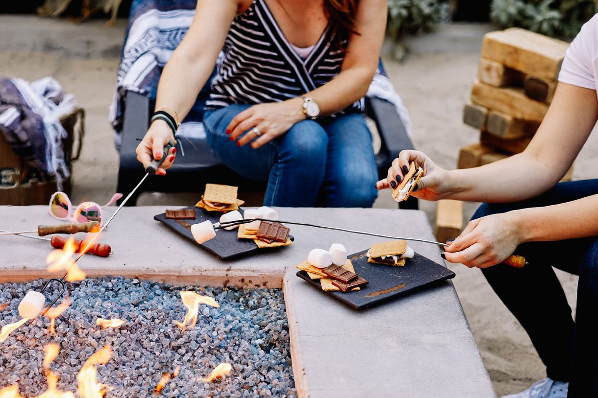 Savor s'mores by the firepits every night.