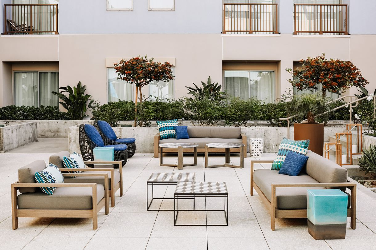 Soak up the Southern California sun out on the patio.