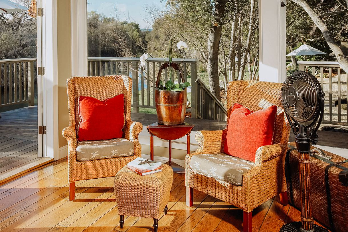 Admire the scenery on the porch.