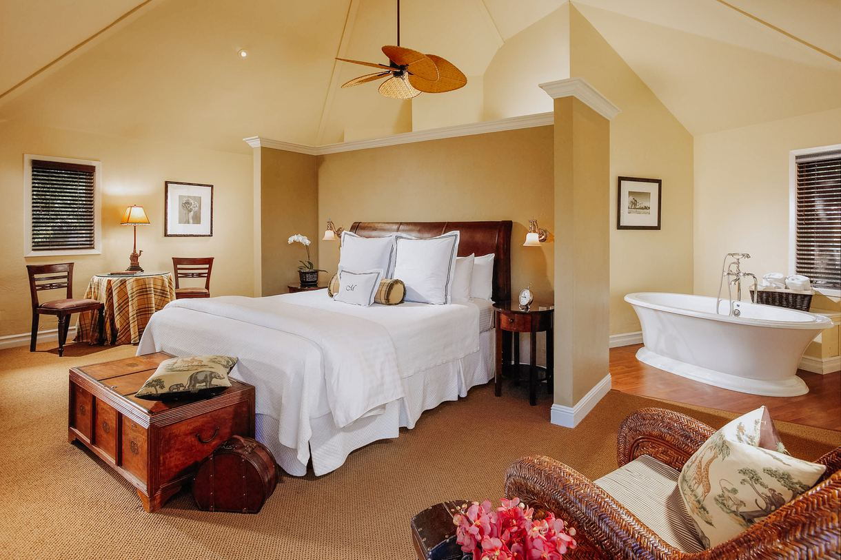 Relax in a cozy guest room.