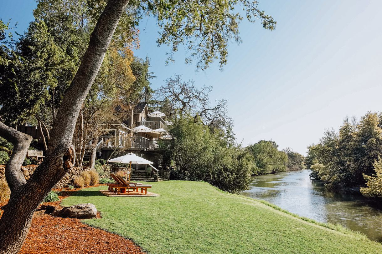 Soak up the sun along the banks of the Napa River.