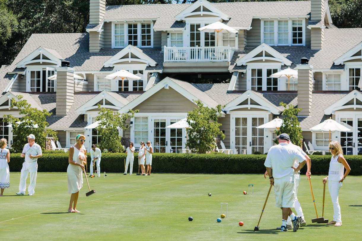 Play croquet on one of the two championship courts.