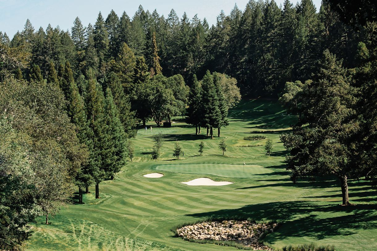 Spend an afternoon on the nine-hole golf course.