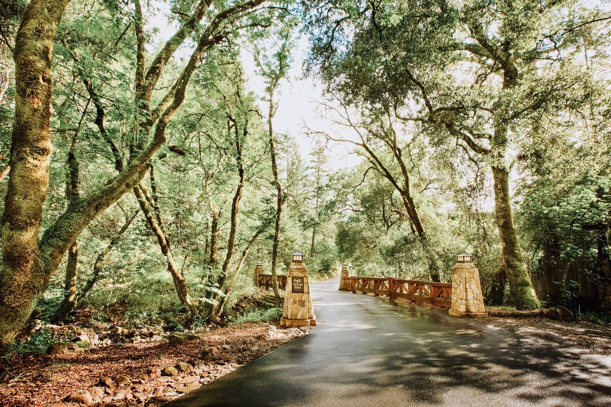 Cross the bridge to reach Calistoga Ranch, tucked away in a private canyon.