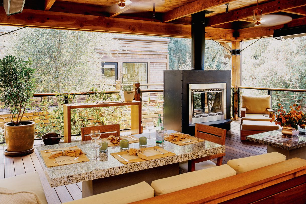 Admire the outdoor beauty while enjoying indoor comforts.