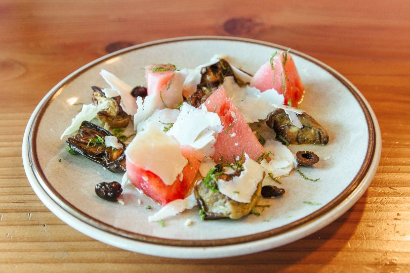 Roasted Eggplant and Watermelon Salad